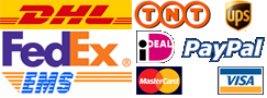 shipping fedex dhl ems ups tnt iDeal Paypal Visa Mastercard